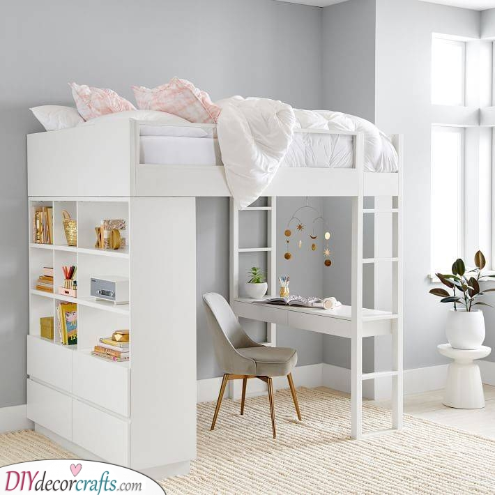 The Loft Bed - Girls Bedroom Ideas for Small Rooms