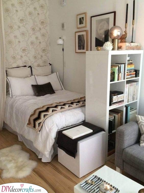 Divide the Room - Small Bedroom Ideas for Girls
