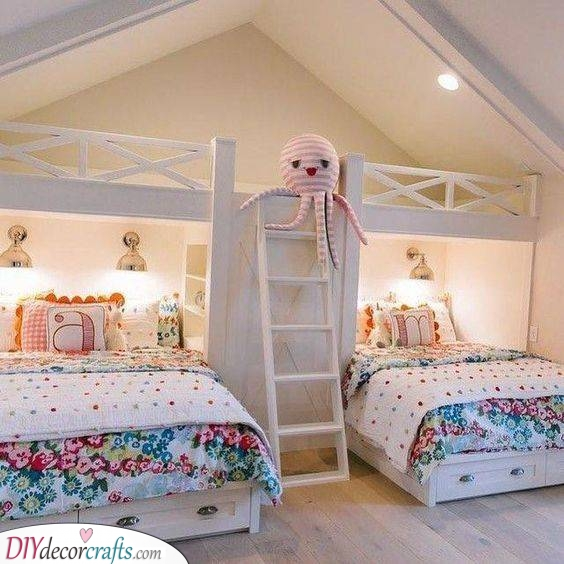 For Two Siblings - Small Bedroom Ideas for Girls