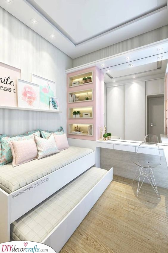 A Larger Bed - Girls Bedroom Ideas for Small Rooms