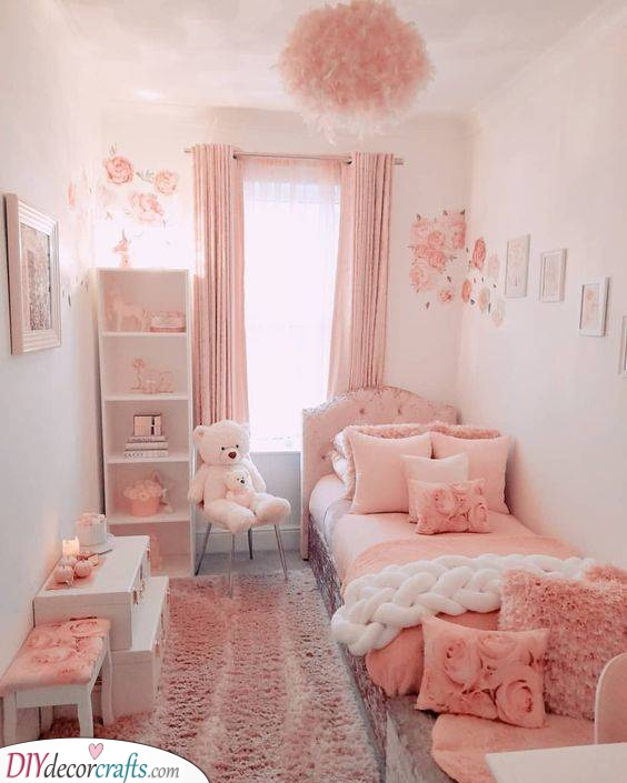 Pretty in Pink - Girls Bedroom Ideas for Small Rooms