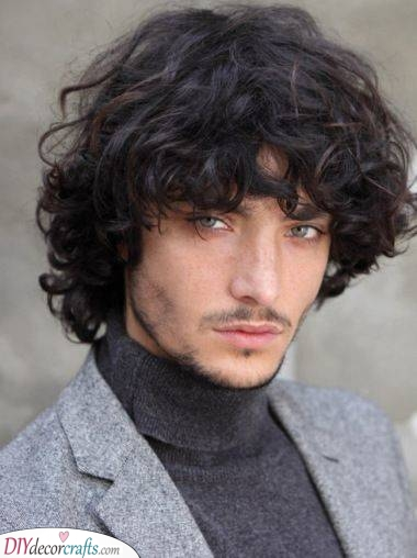 Thick and Curly - Men's Medium Hairstyles