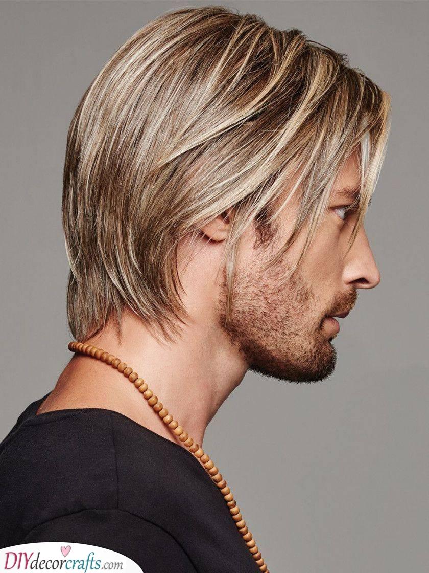 Adding Some Highlights - Men's Medium Hairstyles