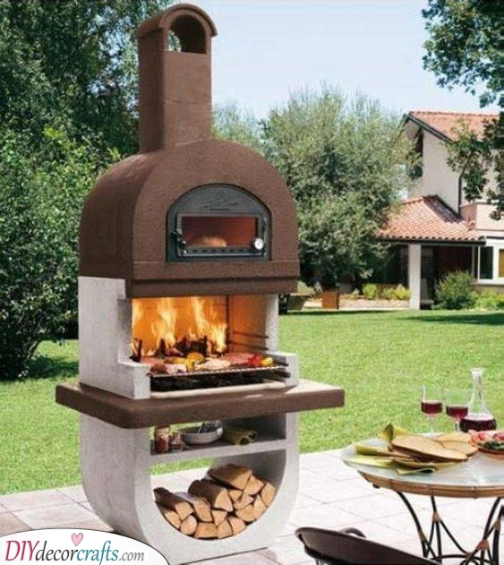 Time to Grill - Backyard Fireplace ideas