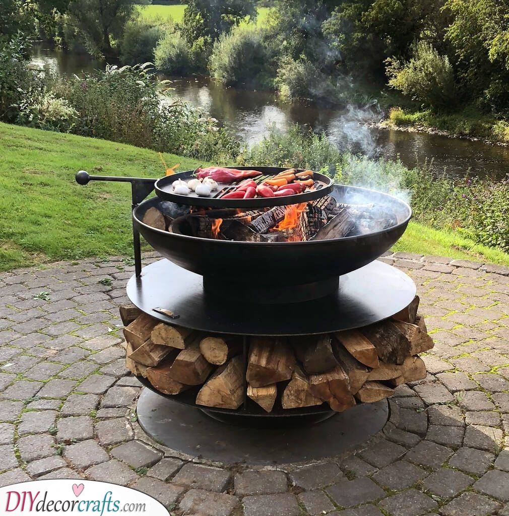 A Swing Arm - Great for Grilling Food