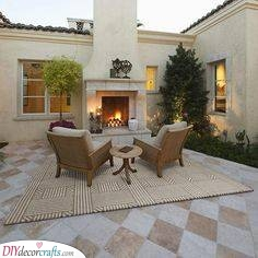 A Comfortable Setting - Patio Fireplace Ideas