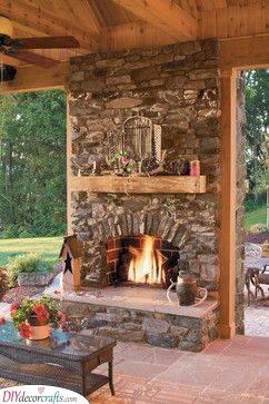A Country Vibe - Backyard Fireplace Ideas