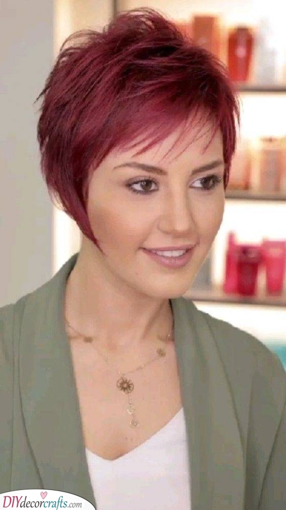 Wild and Red - Short Hairstyles for Women