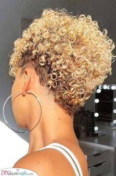 An Afro Pixie - Short Haircuts for Women
