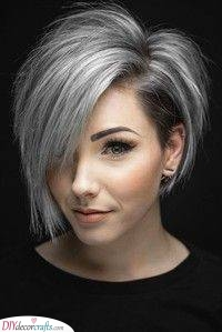 A Grey Balayage - Short Hairstyles for Women