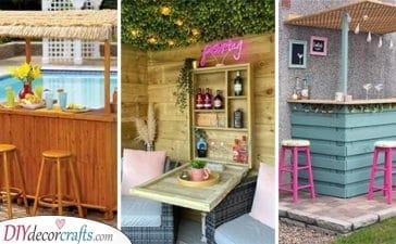 20 OUTDOOR BAR IDEAS FOR BACKYARDS - Garden Pub Ideas
