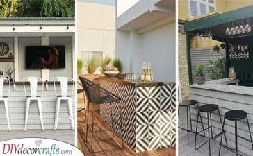 20 GARDEN BAR IDEAS - Summer House Bar Ideas