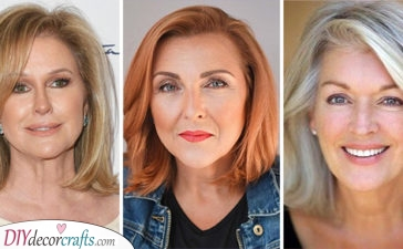 20 MEDIUM HAIRSTYLES FOR WOMEN OVER 50 - Shoulder Length Haircut for Women Over 50
