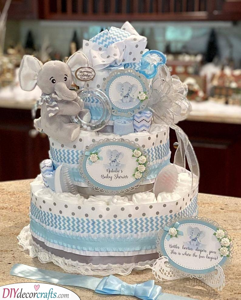 A Few Hidden Gifts - Nappy Cake Ideas