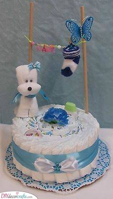 A Washing Line - Diaper Cake Ideas