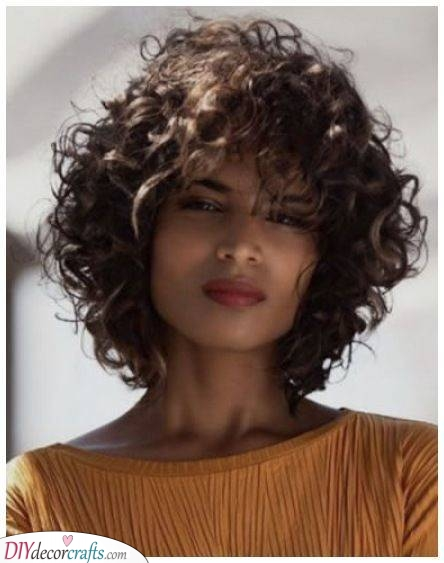 A Curly Bob - Shoulder Length Curly Hair