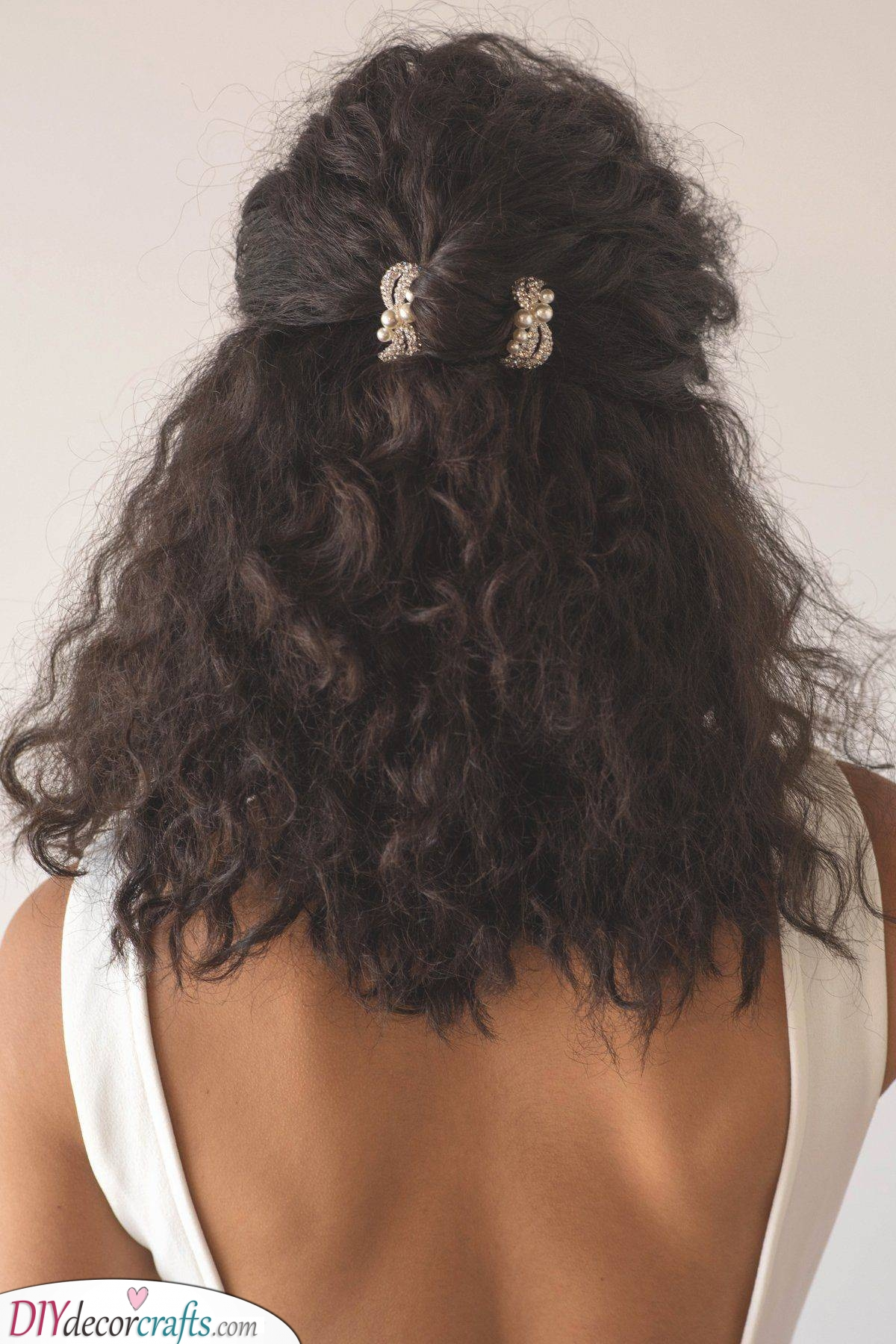 Attached to the Back - Curly Hairstyles for Medium Hair