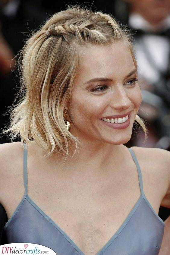 Braids and Waves - Curly Hairstyles for Medium Hair