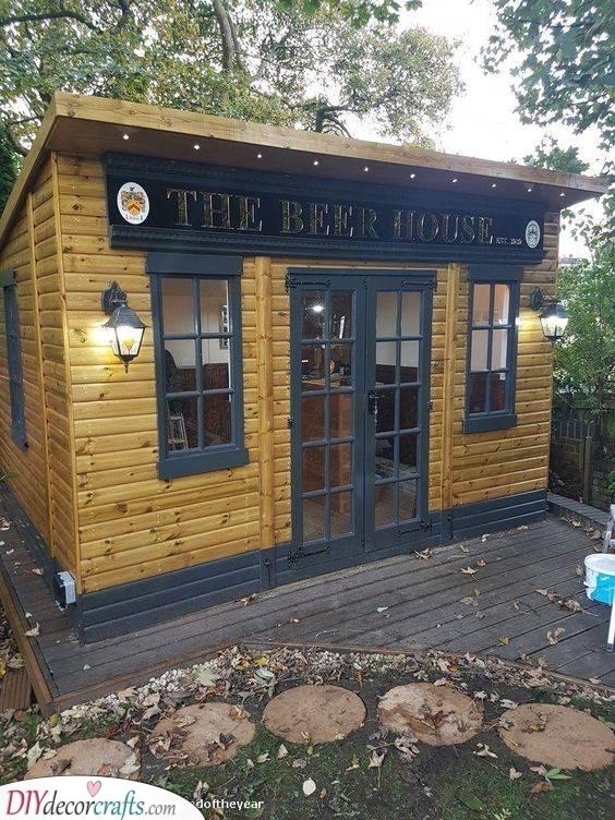 A Beer House - Summer House Bar Ideas