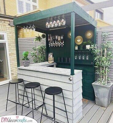 Bohemian and Natural - Summer House Bar Ideas