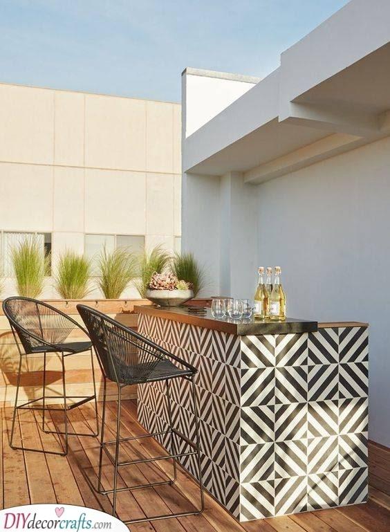 A Fun Pattern - Garden Bar Ideas