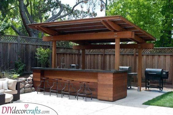 A Bar and Barbeque - Summer House Bar Ideas