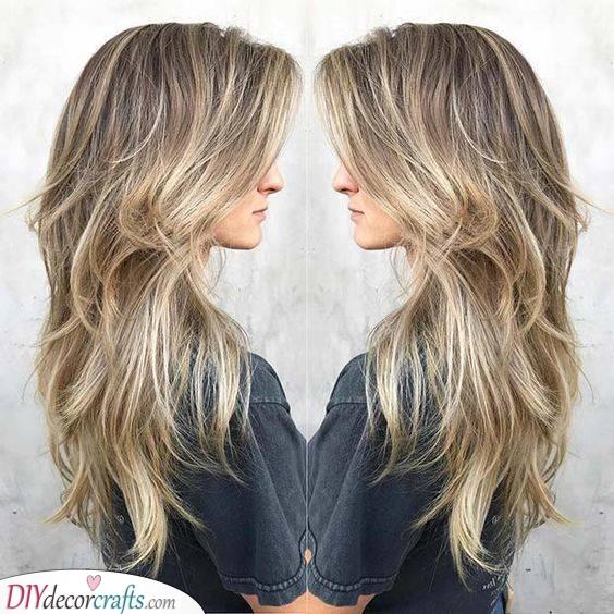Beautiful Highlights - Haircuts for Thin Long Hair