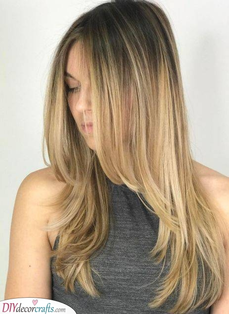 The Curtain Bangs - Hairstyles for Long Fine Hair