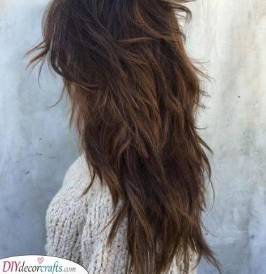 Layered and Shaggy - Haircuts for Thin Long Hair