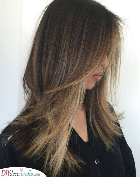 Long and Choppy Layers - Hairstyles for Long Fine Hair