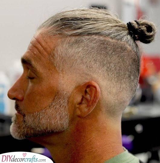 A Man Bun - Haircuts for Men over 50