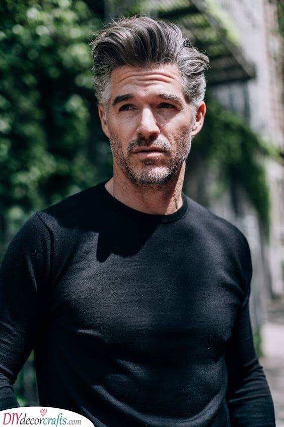 The Pompadour - Hairstyles for Men over 50