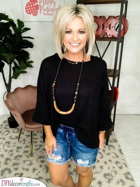 Platinum Blonde - Medium Hairstyles for Women Over 50