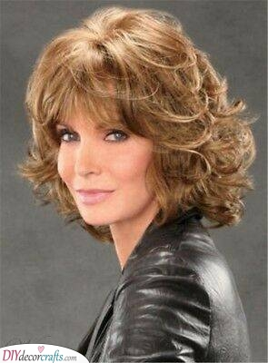 A Curly Shag - Shoulder-length Haircut for Women Over 50
