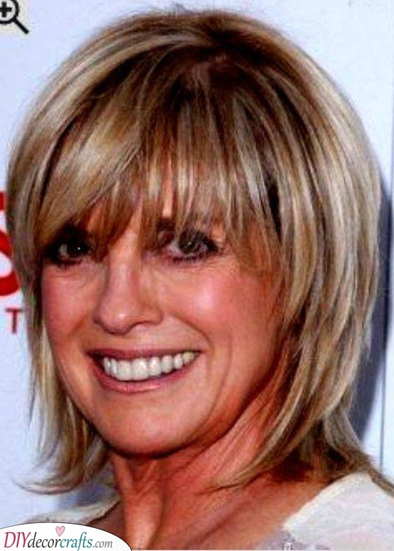 Straight and Fun - Shoulder-length Haircut for Women Over 50
