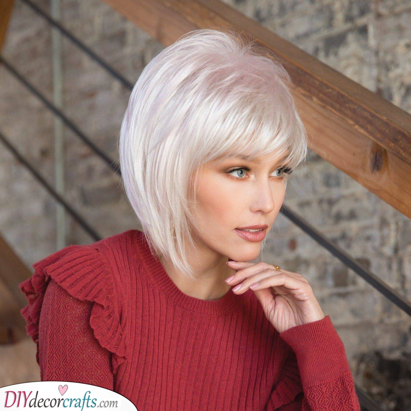 A Chin-length Bob - Topped with Layers