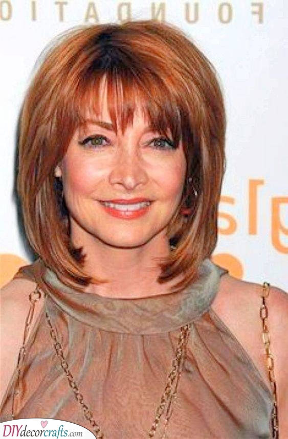 Another Unique Shade - Medium Hairstyles for Women Over 50