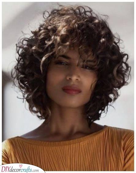 Cool and Groovy - Medium Length Curly Hair