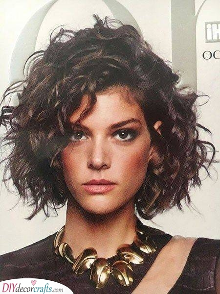 Edgy and Bold - Medium Length Haircuts for Curly Hair