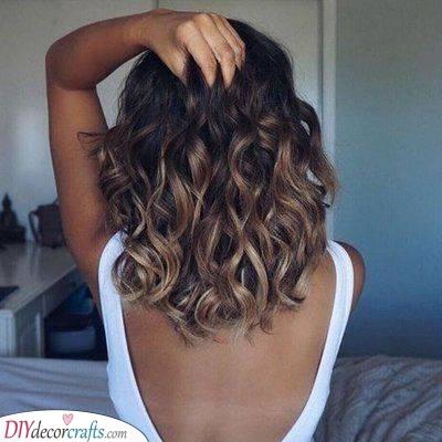 Simplistic and Easy - Medium Length Haircuts for Curly Hair