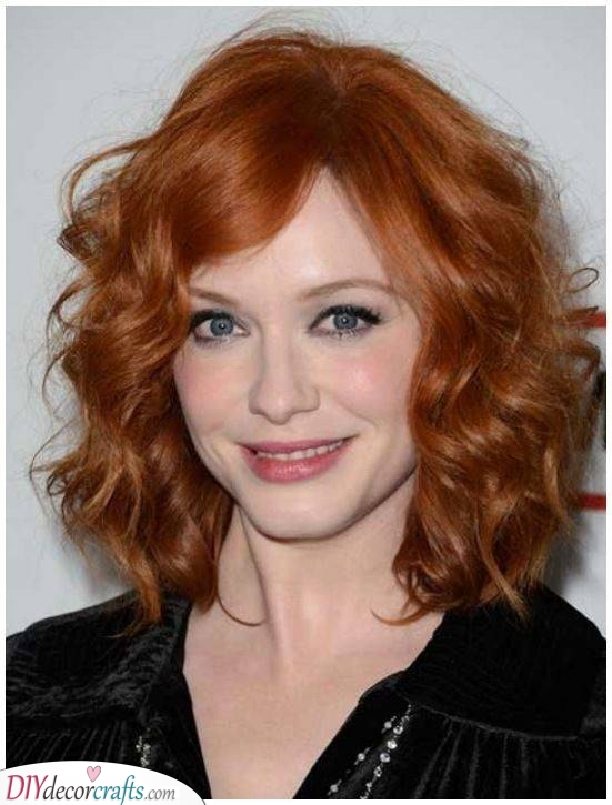 Gorgeous and Full Curls - Medium Length Curly Hair