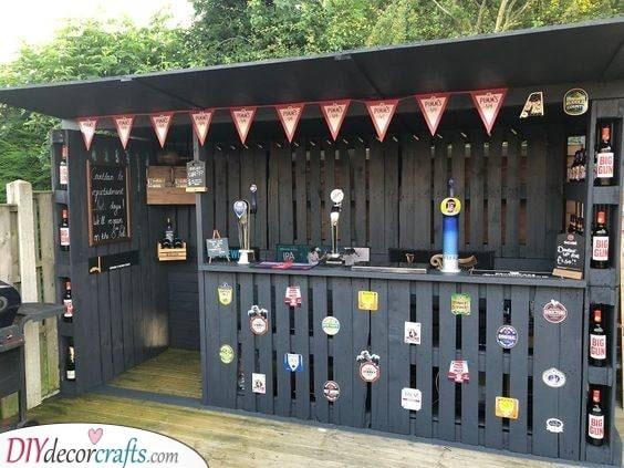 Decorate Garden Pub Ideas - Outdoor Bar Ideas for Backyard