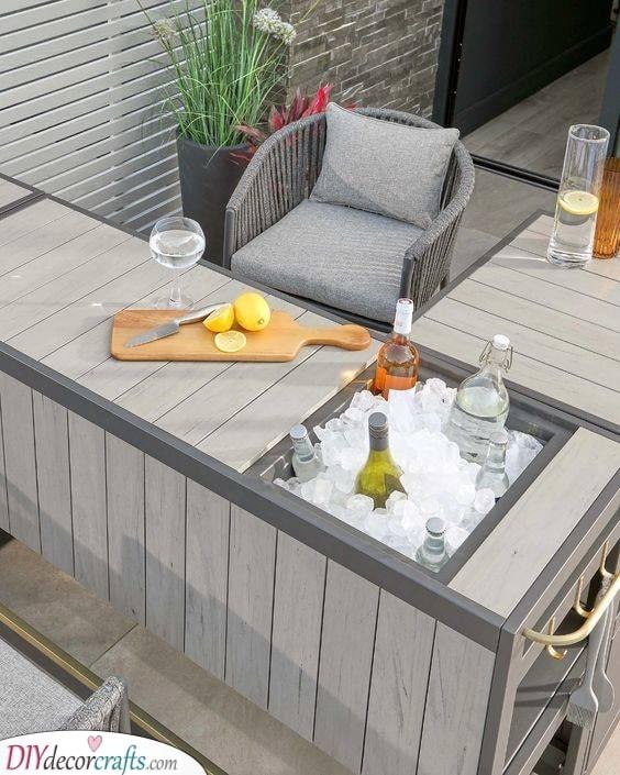 Add an Ice Box - Outdoor Bar Ideas for Backyard