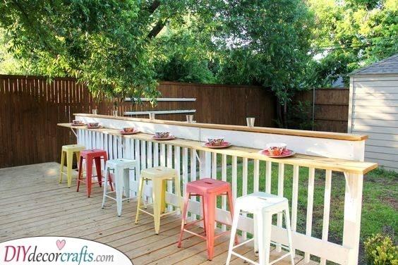 The Bar Rail - Garden Pub Ideas