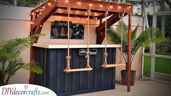 A Set of Swings - Outdoor Bar Ideas for Backyard