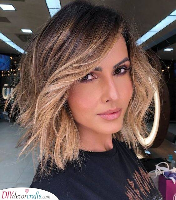 A Textured Bob - With an Ombre