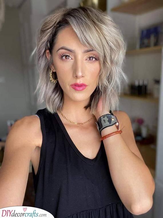 Add a Braid - Shoulder Length Hairstyles for Thin Hair