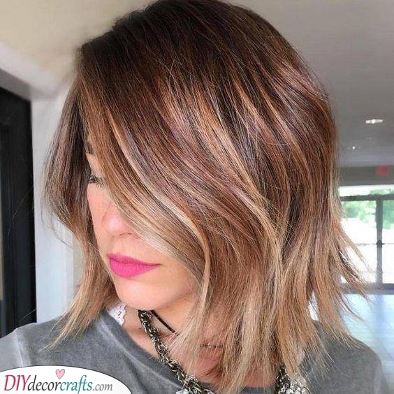 Lovely Waves - Medium Length Haircuts for Thin Hair