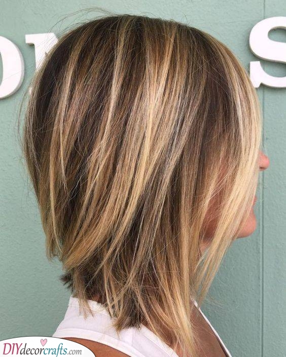 Caramel and Brown - Shoulder Length Hairstyles for Thin Hair