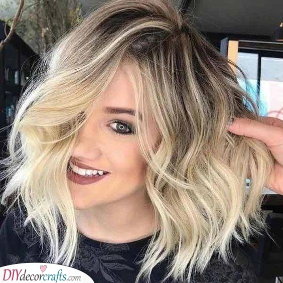 A Beautiful Balayage - Shoulder Length Hairstyles for Thin Hair